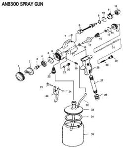 Anb300 Pro Spray Hvlp Gun Repair Kit