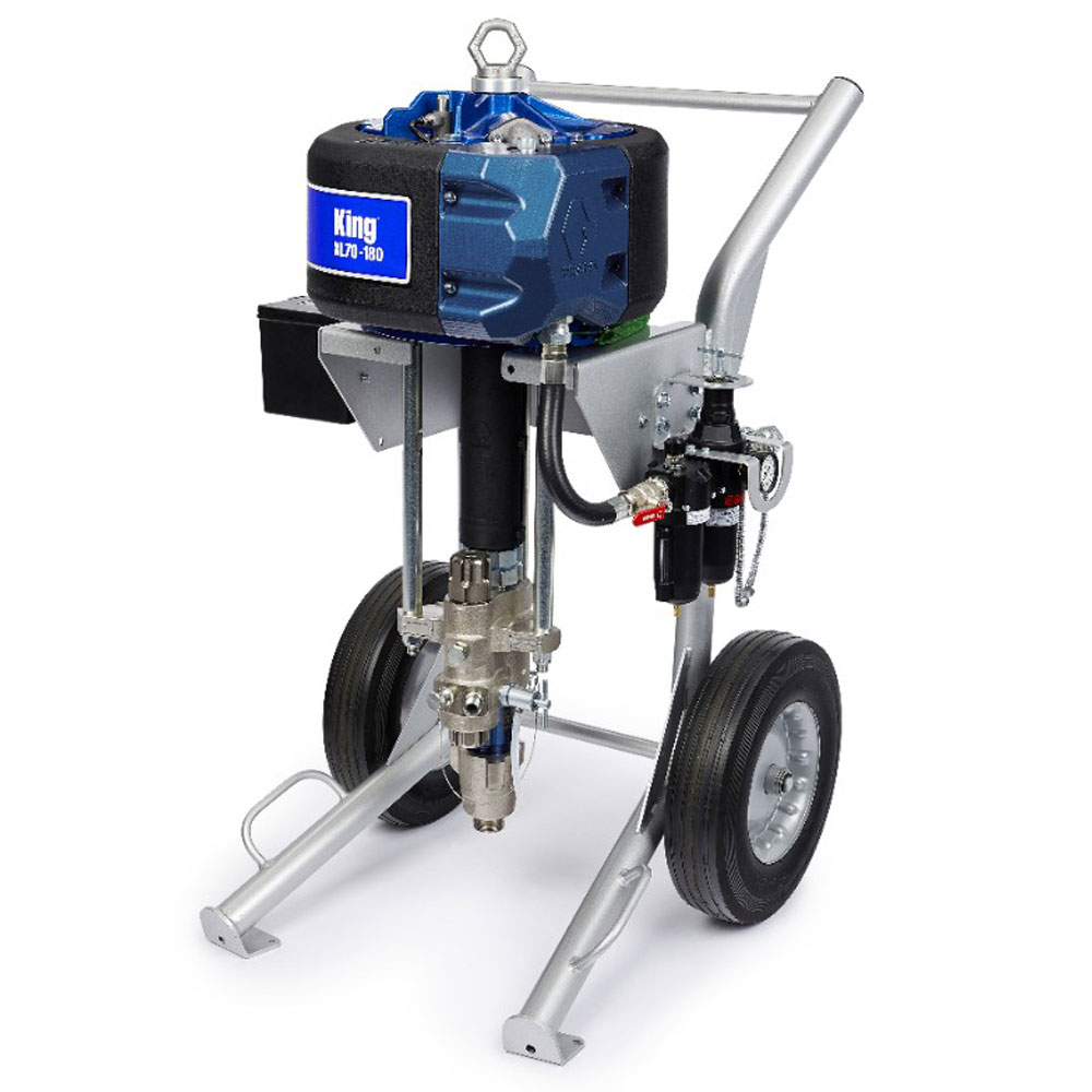 Graco king xl45 45 1 air operated airless sprayer for Air or airless paint sprayer